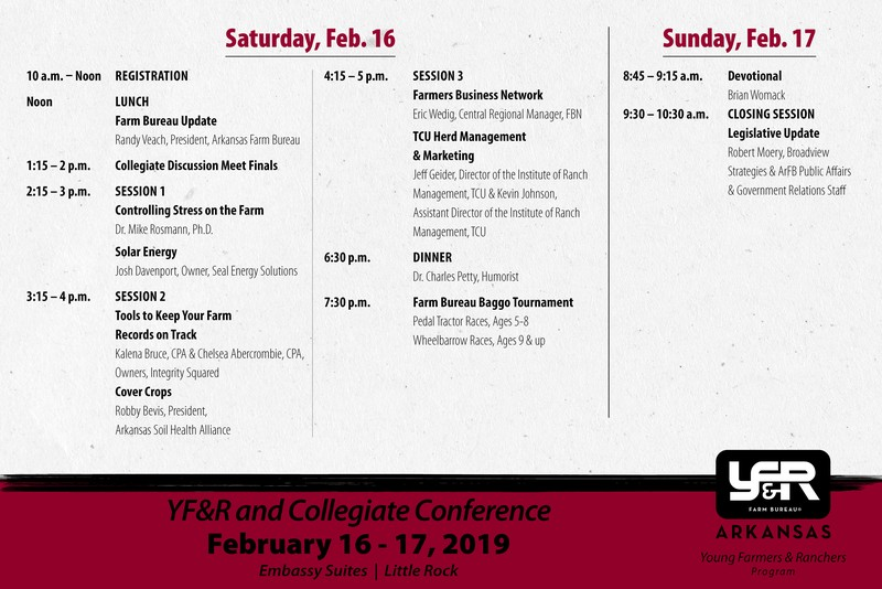 YF&R Conference schedule