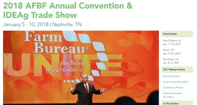 AFBF Convention Website image