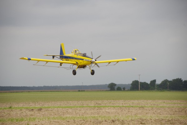 Cropduster over field