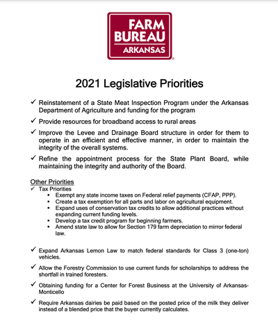 Legislative Priorities Document image Updated