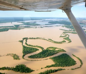 VIDEO: ArFB Leaders Fly Over Flooding