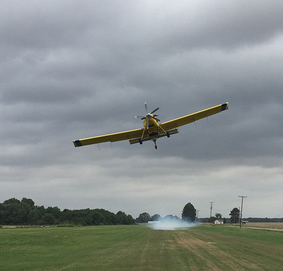 Cropduster in the air